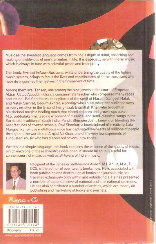 Eminent Indians : Musicians